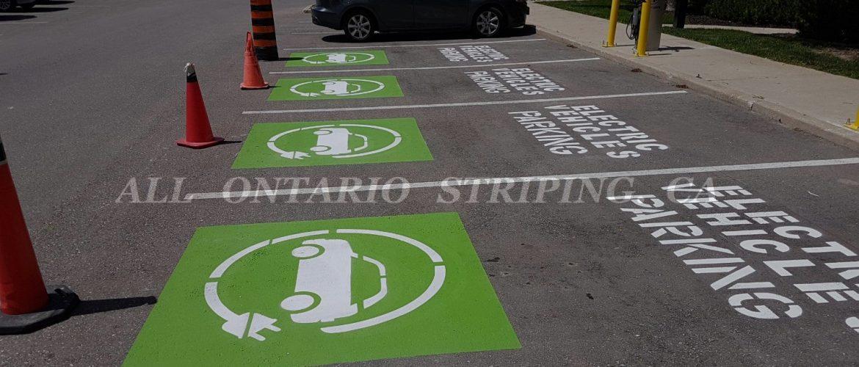 car park line painting
