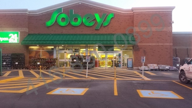 Line Painting and Pavement Markings at Sobeys